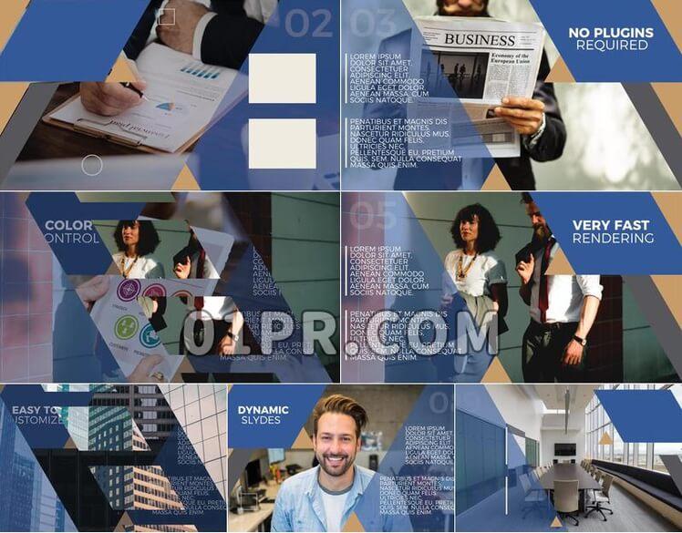 Pr模板企业展示