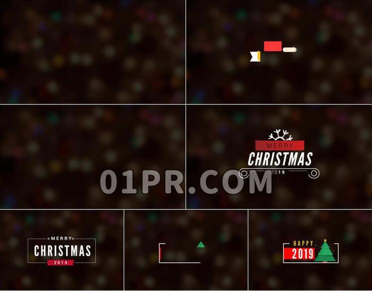 Pr素材圣诞节简约标题