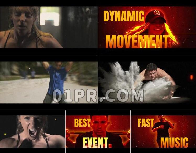 Pr模板运动活动展示和片头