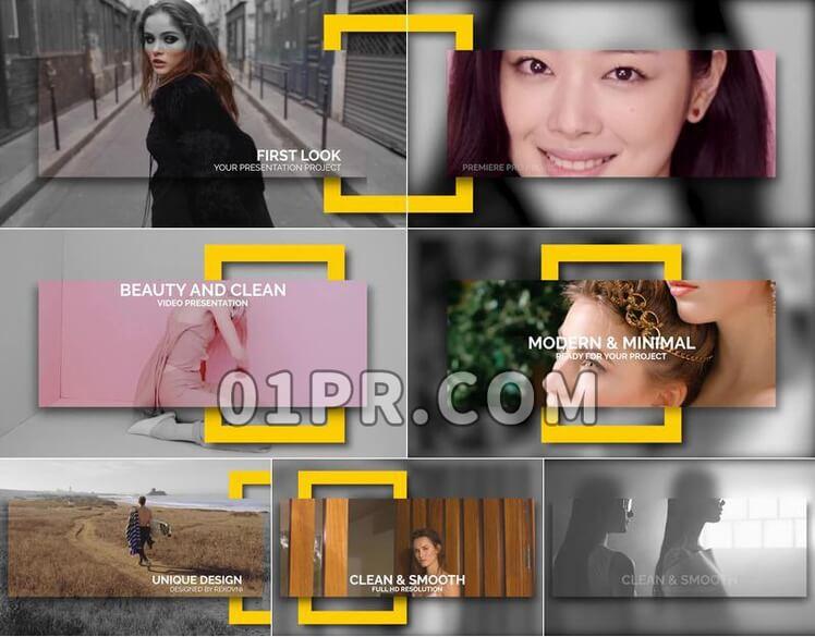 Pr模板简洁视频展示