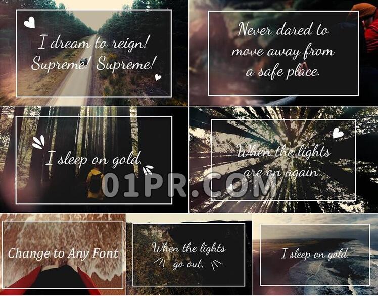 Pr素材歌词视频标题