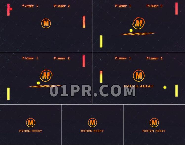 Pr模板8 Bit Game Logo