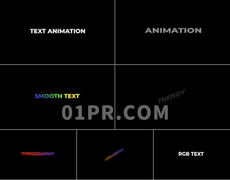 Pr预设文字动画+(RGB)