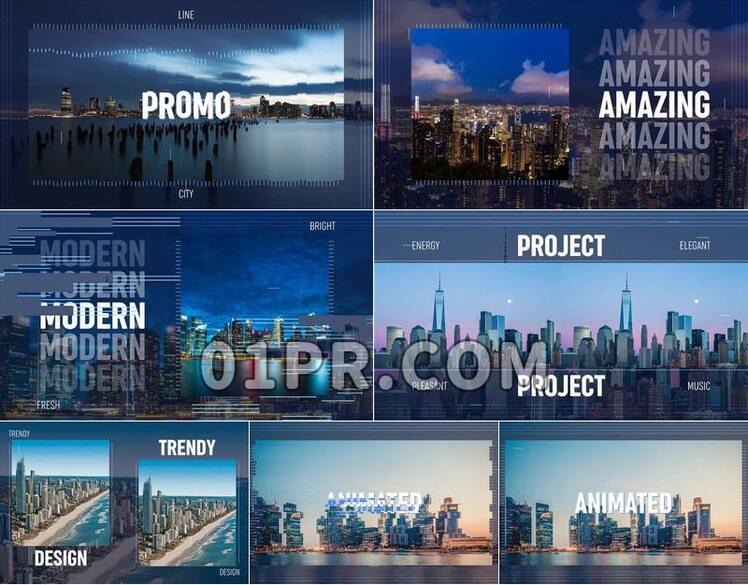 Pr模板城市风光展示