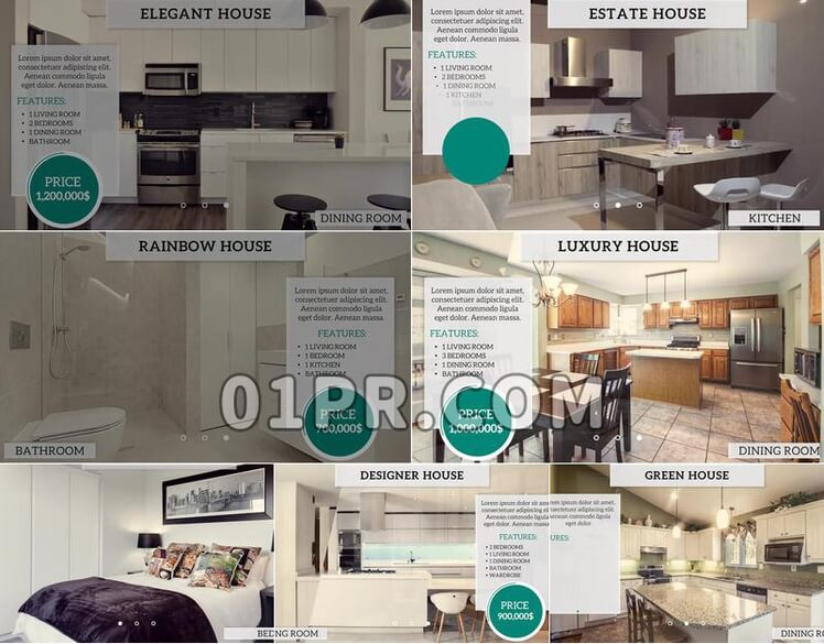 Pr模板简洁房地产展示
