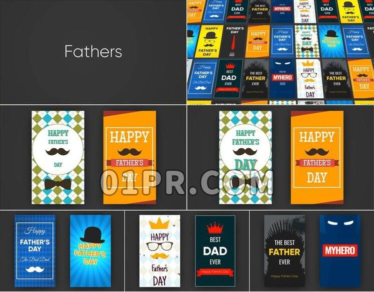 Pr图形模板Father's Day Instagram Stories