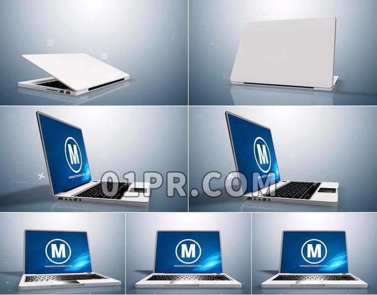 Pr模板笔记本电脑LOGO