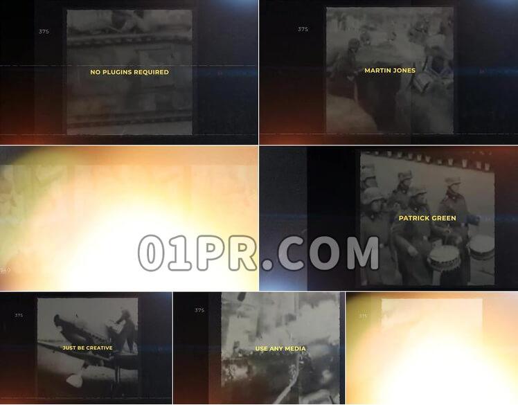 Pr模板历史幻灯片