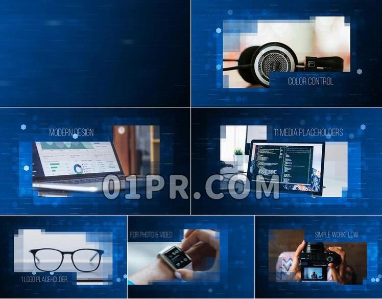 Pr模板数字科技展示