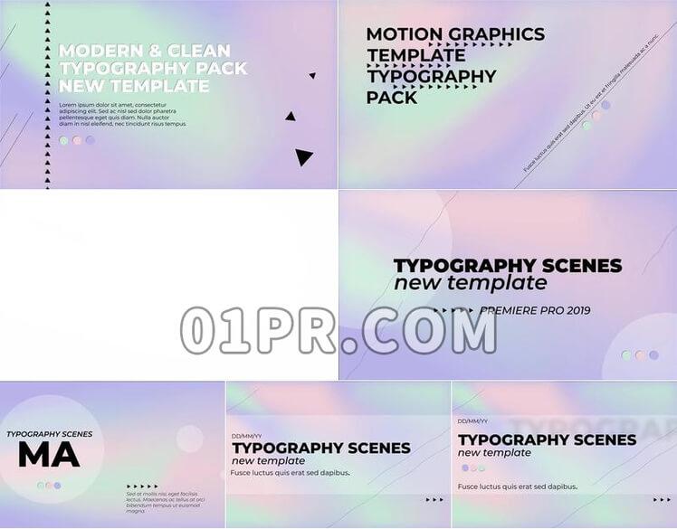 Pr图形模板排版样式全息素材包