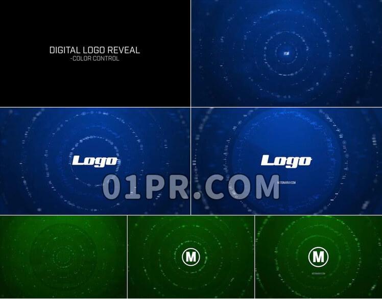Pr模板数字LOGO展示