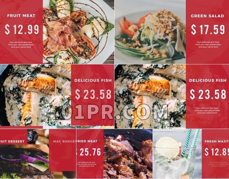 Pr模板现代餐饮展示