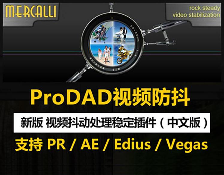 AE/PR/Edius/Vegas视频稳定防抖插件素材画面修复ProDAD Mercalli
