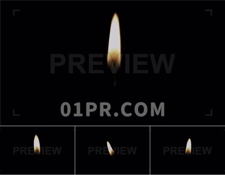 视频素材 实拍蜡烛火焰燃烧元素阿尔法通道 Pr/AE/FCPX