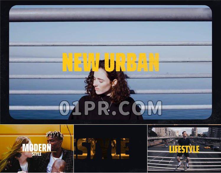 Pr片头模板 9张33秒嘻哈街舞运动活力都市 Pr素材