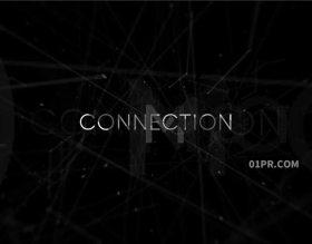 FCPX模板插件 空间点线连接网络科技感未来标志LOGO演绎 FCPX插件