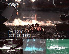 FCPX特效插件 9组复古VHS录像带8090年代胶片老电影磁带效果 FCPX素材