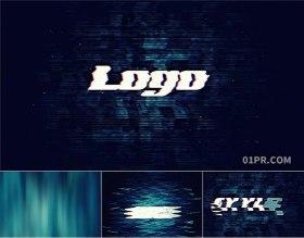 FCPX标志模板 快速故障干扰现代酷炫LOGO标志演绎 FCPX素材
