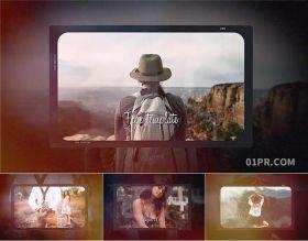 FCPX模板相册 10张照片85秒电影胶片婚礼旅行生日 FCPX电子相册模板