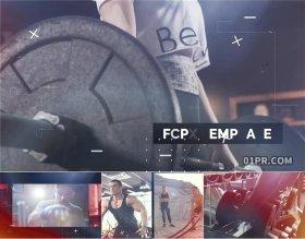 FCPX片头插件 58秒酷炫故障街舞体育运动健身片头 FCPX模板