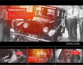 FCPX模板插件 10张照片70秒水墨晕染遮罩历史回忆相册片头 FCPX素材