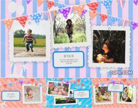 FCPX模板相册 21张照片88秒有趣儿童小孩子幼儿婴儿回忆 FCPX相册模板