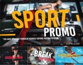 FCPX片头模板 12张41秒3D移动大标题体育运动健身宣传片 FCPX插件
