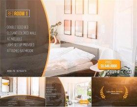 FCPX模板插件 86秒金色豪华房地产酒店公寓室内设计宣传片头FCPX素材