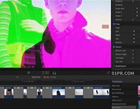 FCPX转场插件 3组RGB分离失真故障干扰过渡效果 FCPX素材