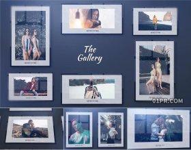 FCPX电子相册模板 32张92秒简约婚礼生日旅行回忆活动FCPX照片墙插件