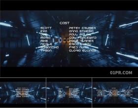 FCPX字幕插件 小故障信号干扰科技科幻电影片尾结尾演员列表FCPX素材