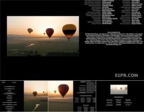 FCPX字幕插件 25组4K电影演职员列表结尾动态片尾 FCPX模板