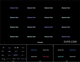 FCPX字幕插件 16组现代动态变换弹性文字标题抖动动画 FCPX插件