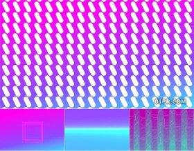 FCPX模板 炫彩抽象视频动漫动画卡通波普艺术背景素材 FCPX插件
