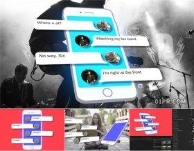 FCPX模板 卡通动画手机聊天说话会话气泡弹窗 FCPX插件
