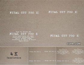 FCPX字幕插件 50组打字机效果模拟电脑键盘敲击文字标题 FCPX模板
