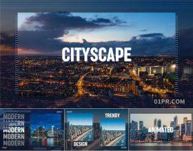 FCPX模板相册 9组城市风光科技条状平滑分割企业宣传 FCPX素材