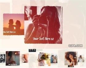 FCPX插件相册 22张照片优雅方形悬浮滑动生日婚礼回忆 FCPX模板