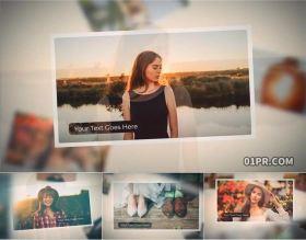 FCPX插件照片 12张可爱悬浮复影婚礼旅行生日回忆 FCPX相册模板