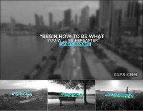 FCPX插件字幕 9组4K简约彩色线条线性引号标题动画文字