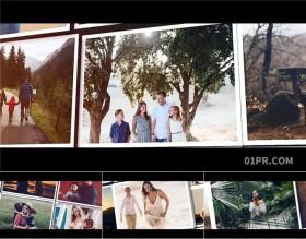 FCPX电子相册模板 63张3分钟优雅缓慢滑动照片画廊生日回忆婚礼