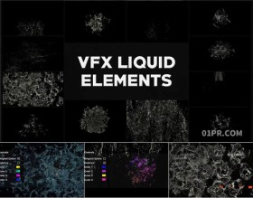 FCPX插件 12组液体液态流体模拟水花流水元素 FCPX素材