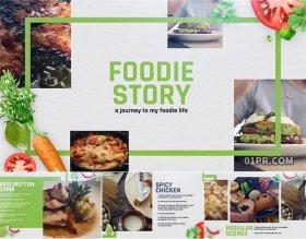 FCPX模板片头 14组绿色美食食物饮食厨师餐厅展示 FCPX插件