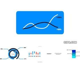 FCPX模板 8组简单动画信息数据图表图形元素 FCPX插件