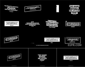 FCPX字幕模板 12组4K现代引用动画文字标题 FCPX插件