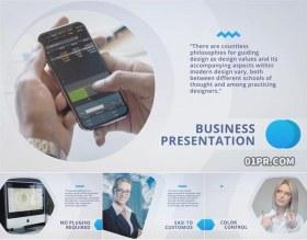 AE模板 12张57秒现代图文企业宣传公司介绍幻灯片