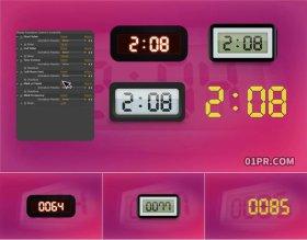 AE模板 4组动画数字计数器生成工具元素
