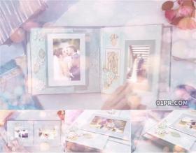 AE相册模板 照片翻页剪贴簿手工炫光情感儿童浪漫婚礼