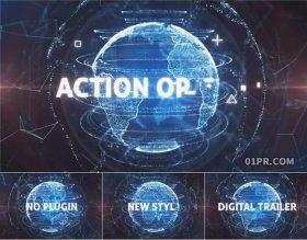 AE模板 6张43秒地球数字程序未来网络科技预告