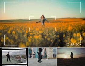 FCPX转场插件 摄像机相机取景器快门定格拍照过渡效果